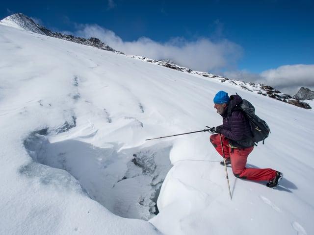 Kappenberger auf dem Gletscher.
