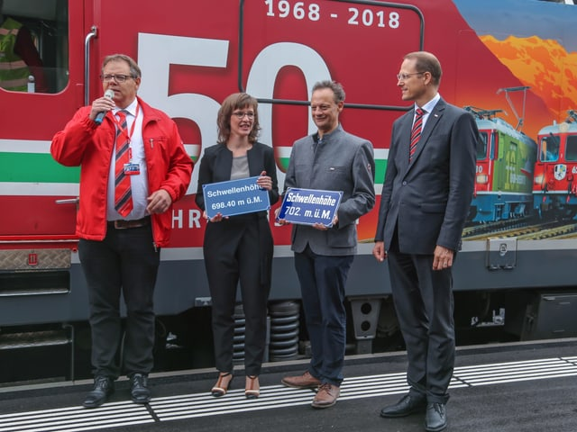 Christian Florin, Carmelia Maissen, Stefan Engler e Renato Fasciati
