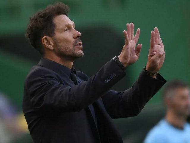 Atletico-Trainer Diego Simeone.
