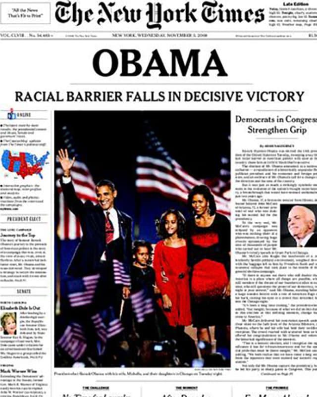 Das historische Titelblatt der NYT