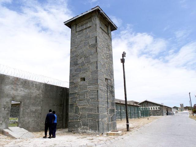 Eingang zum Gefängnis Robben Island, 1999