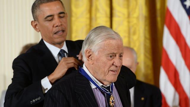 Ben Bradlee erhielt von US-Präsident Barack Obama die Freiheitsmedaille.