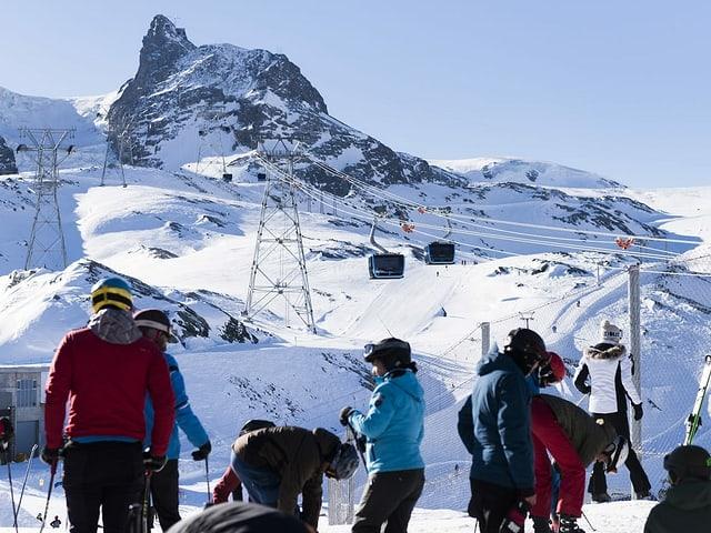 Blick auf das Klein Matterhorn.