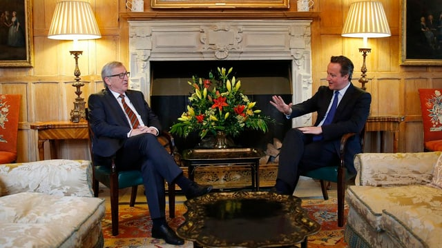 Jean-Claude Juncker e David Cameron.