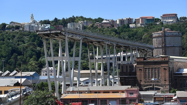 Eingestürzte Brücke in Genua