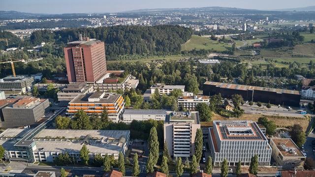 Das Areal des Kantonsspitals in Luzern.