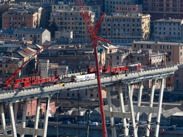 Aufbau der Morandi-Brücke