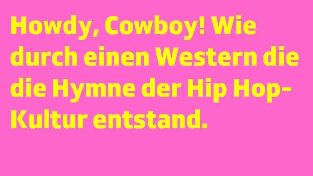 Schrifttafel mit «Howdy, Cowboy!»