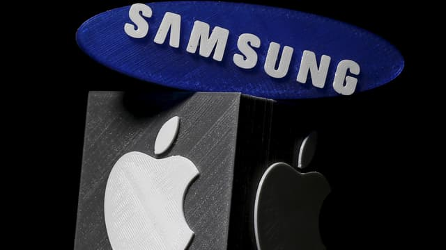 logos dad Apple e da Samsung.