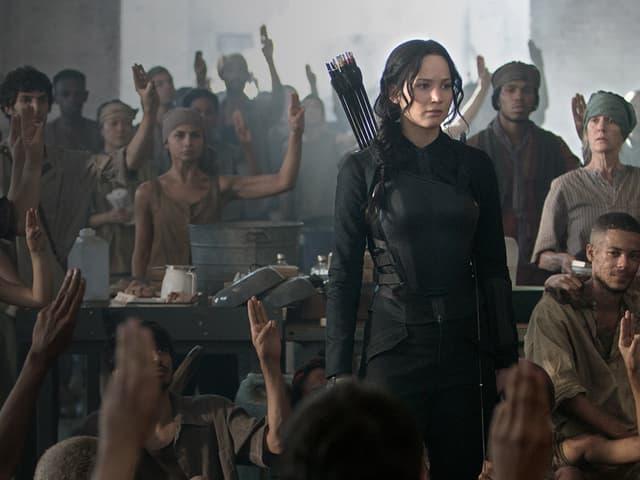 Die Heldin Katniss Everdeen.