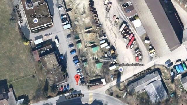 Satellitenbild von Hinterkappelen