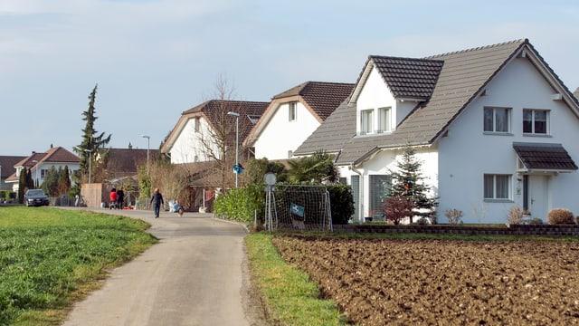 Einfamilienhäuser im Kanton Aargau.