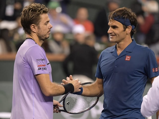 In Indian Wells schlug Federer heuer Wawrinka in 2 Sätzen.