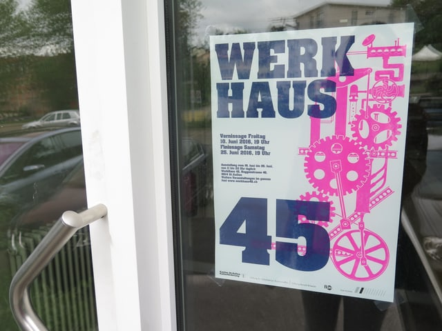 Plakat vom Werkhaus 45