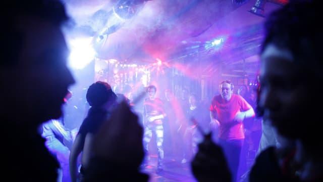 Szene in einer Disco
