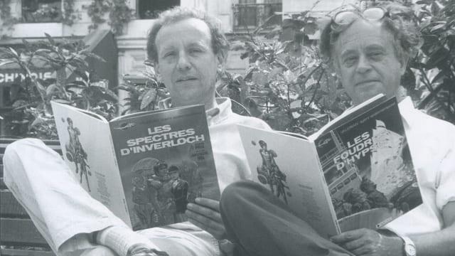 Zeichner Jean-Claude Mézières (links) und Autor Pierre Christin.