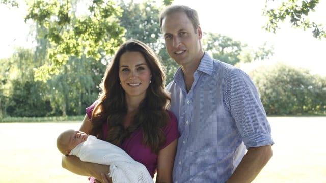 Herzogin Catherine und Prinz William und das Baby