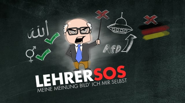 """Internetseite """"Lehrersos"""" mit dem Slogan: """"Meine Meinung bild ich mir selbst."""""""