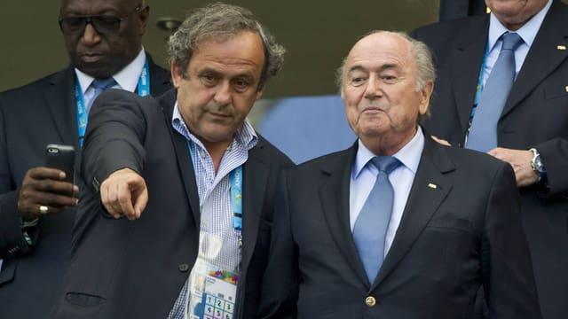 Michel Platini und Joseph S. Blatter