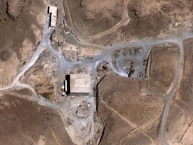 Der von Israel zerstörte Atomreaktor in Syrien.