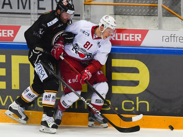 Duell zwischen einem Lugano- und einem Lausanne-Spieler.