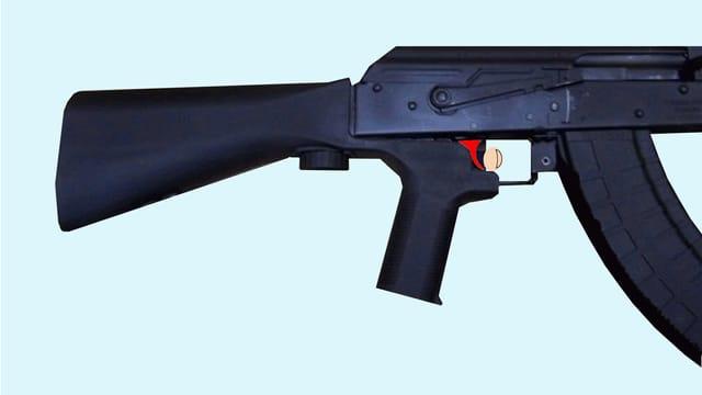 Mit Aufsatz zum Maschinengewehr