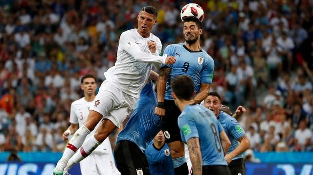 L'Uruguai eliminescha il campiun europeic. Ils Portugais ston ir a chasa.