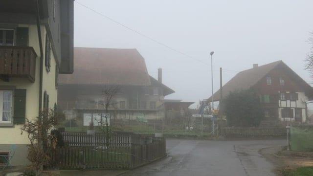 Das Dorf im Nebel.