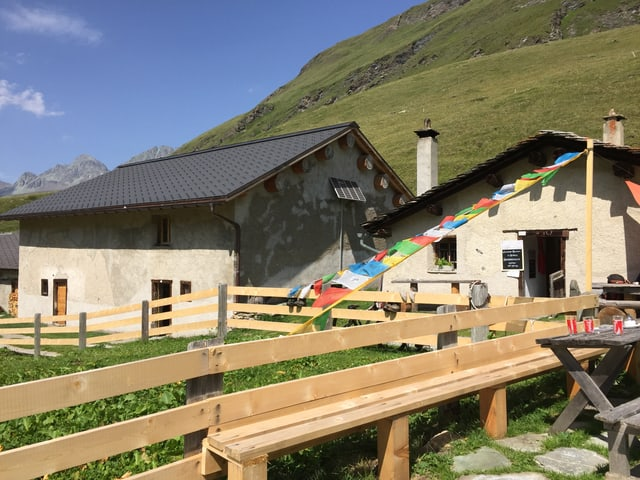 Die Alphütte bei Avers