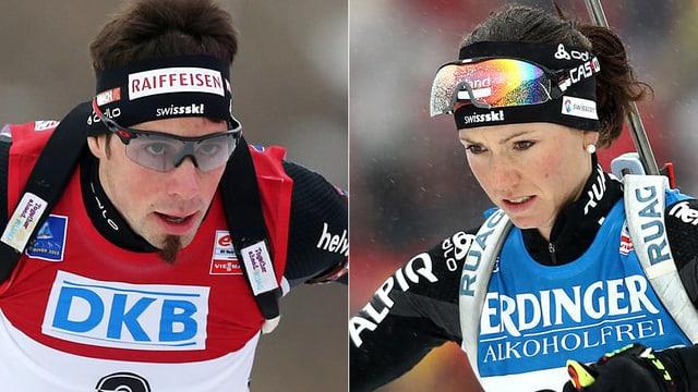 Benjamin Weger und Selina Gasparin sind die Schweizer Hoffnungen bei der Biathlon-WM.