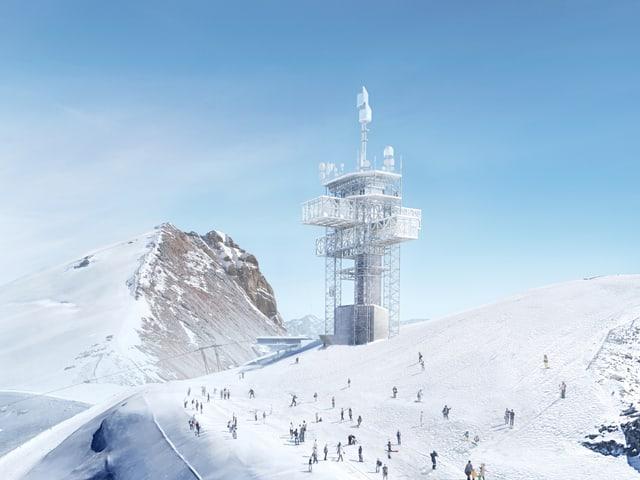 Visualisierung des neuen Turms