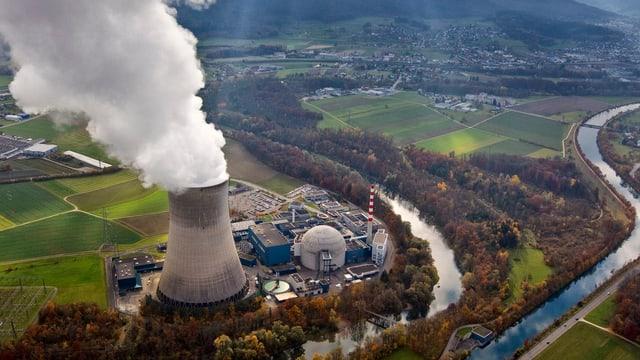 Luftaufnahme vom AKW Gösgen
