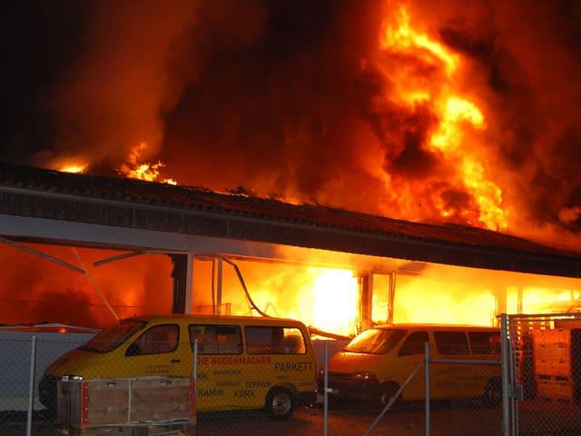 Ein grosser Brand im Luzerner Stadtteil Littau.