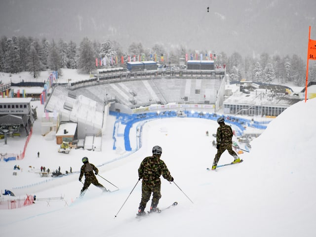 Zielbereich in St. Moritz