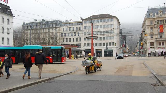 Der Zentralplatz in Biel.