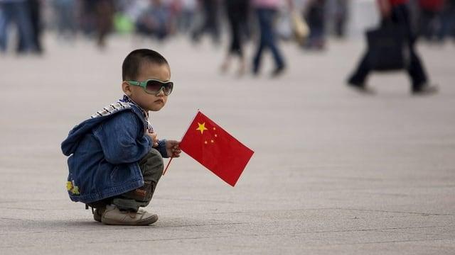 Fin ussa dastgavan pèrs en China mo avair in uffant.