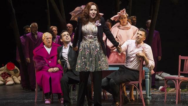 Vasilisa Berzhanskaya auf der Bühne als La Cenerentola