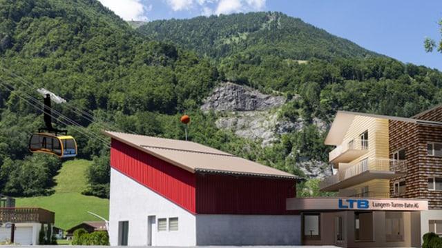 Die neue Talstation im Rohbau.