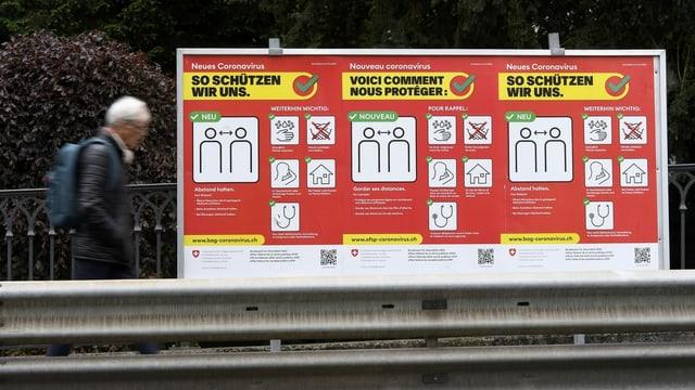 Corona Kampagne Plakat