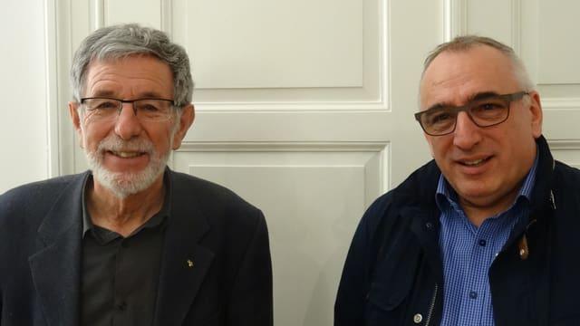 Johannes Flury e Martin Gabriel - Il president ed il nov secretari general (da san.).