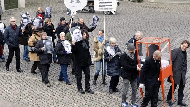 Protest gegen Schliesslung des Museums Strauhof