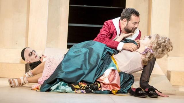 Szene aus «Tartuffe», Freilichttheater des Theaters Kanton Zürich