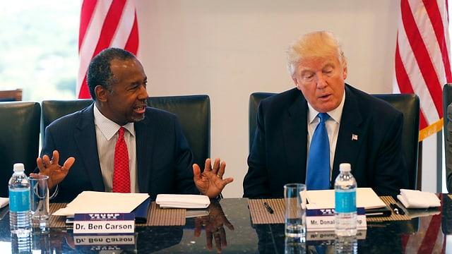 Ben Carson ed il nov elegì president Donald Trump.