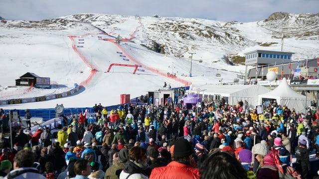 Zielgelände in St. Moritz
