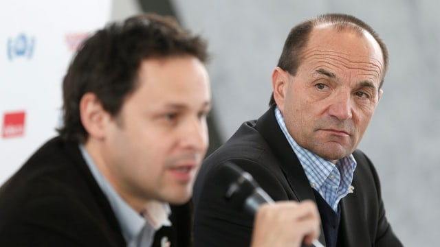 Gian Gilli (r.) geht, Ralph Stöckli übernimmt.