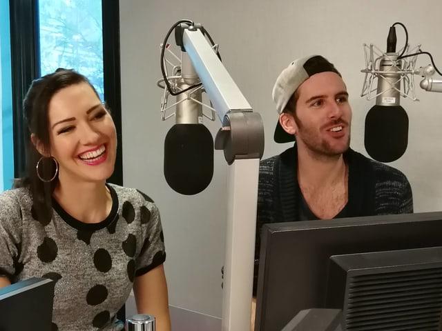 Nyna Dubois e Sandro Dietrich durant l'intervista.