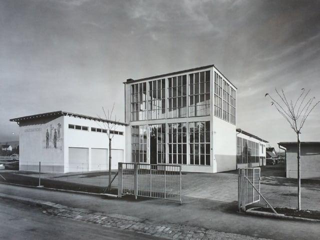 Ringsum war noch Land: Schauhaus der Stadtgärtnerei in den 1940er Jahren.