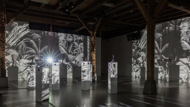 Die Installation «Das Fremde» im Zürcher Kinstraum Walcheturm.
