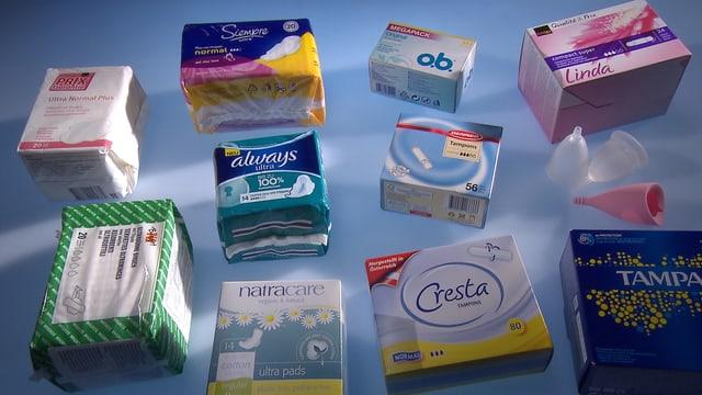 Damenhygiene-Produkte im Test