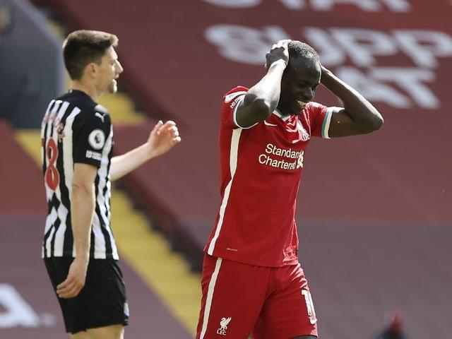 Enttäuschung bei Liverpools Sadio Mané.